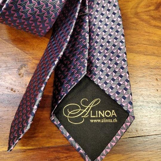 Cravate Alinoa 100% Soie Made in France
