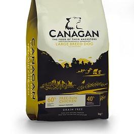 Canagan Free-Run Chicken Maxi cibo naturale per cani prodotto in Inghilterra, con ingredienti selezionati e adatti al consumo umano e senza cereali