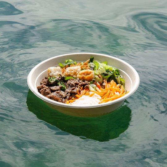 Bo Bun / Salades de vermicelles de boeuf sauté à la citronelle (prenant le soleil)