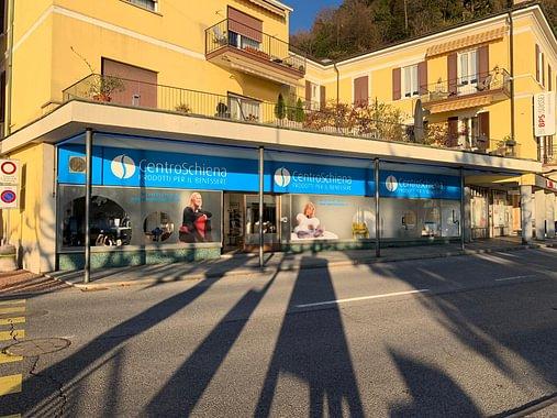 La facciata esterna del Centro Schiena, Lugano