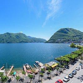 Panorama, lago, casinò, zona pedonale, terrazza, rooftop, jacuzzi, vista, Ceresio