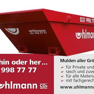 Uhlmann AG Bern, Muldenservice - 031 998 77 77