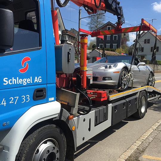 Schlegel AG Pannen- und Unfallbergung // Abschleppdienst SG