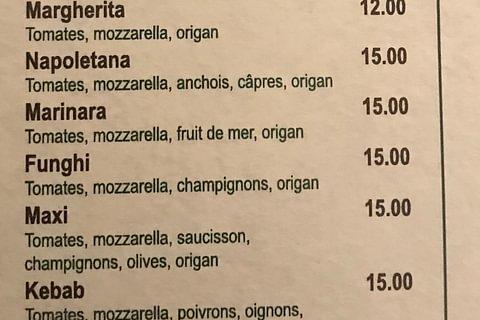 Nos salades, nos pizzas