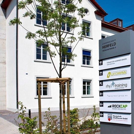 Herfeld-Gebäude – MTS Messtechnik Schaffhausen GmbH Mühlenstrasse 4 CH-8260 Stein am Rhein
