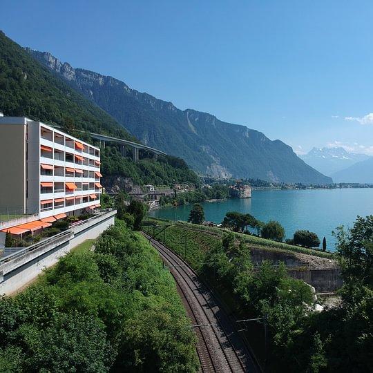 Veytaux/Montreux 3,5 pièces avec grande terrasse face au Lac