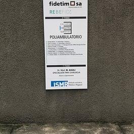 Indicazioni porta d'entrata