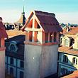 Berner Kaminhutsanierung. Altstadt Bern.