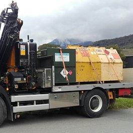 Transport et mise à disposition de citernes de chantiers
