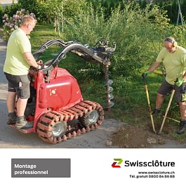 Swissclôture -montage professionnel.