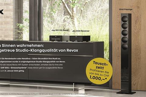 REVOX Tauschzeit - Bis 1'000.- Eintauschprämie!