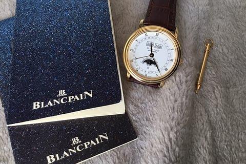 Blancpain quantième complet en or 18k / automatic / avec papiers
