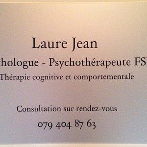 Laure Jean Psychologue-Psychothérapeute FSP