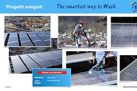 Pulizia PROFESSIONALE impianto fotovoltaico