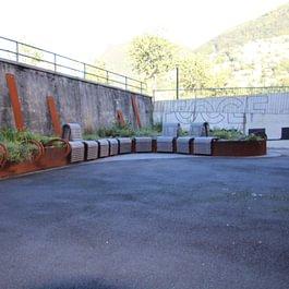 Studio Foce Lugano- vasca fiori
