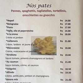 carte pâtes Capri monthey 1