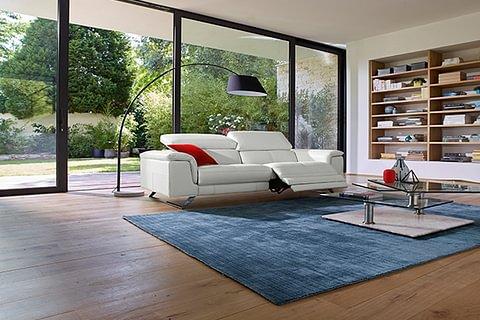 Cortina, canapé relaxation 3 places en cuir de vachette