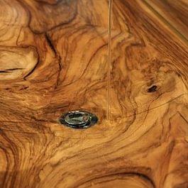 Holzlavabo aus Nussbaum