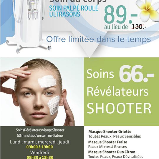 Promo Octobre Lumicel  Cellulite et Remodelage corporel Promo  Visage Soins Révélateurs SHOOTER