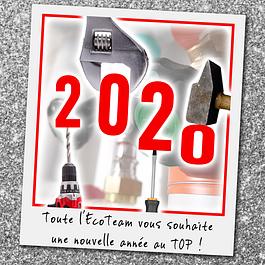 On vous souhaite une année 2020 au top !!