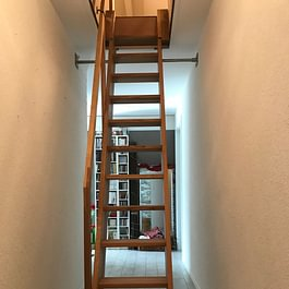 Escalier sur rails