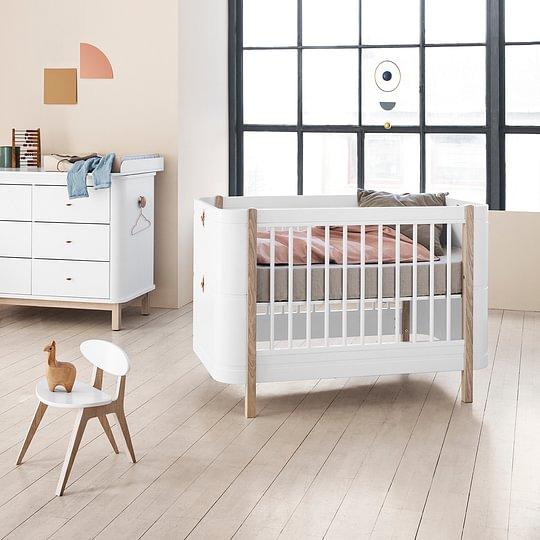 Oliver furniture Babybett mini+ weiss/Eiche