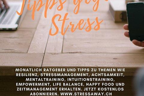 Kostenlose Tipps gegen Stress. Resilienz stärken. stressaway-Newsletter