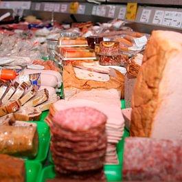 Metzgerei-Verkaufsladen Wurstwaren