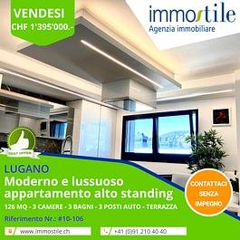 Vendesi a Lugano lussuoso e moderno attico di 4.5 locali