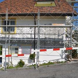 Hagelschaden an Hausfassade. vorher !