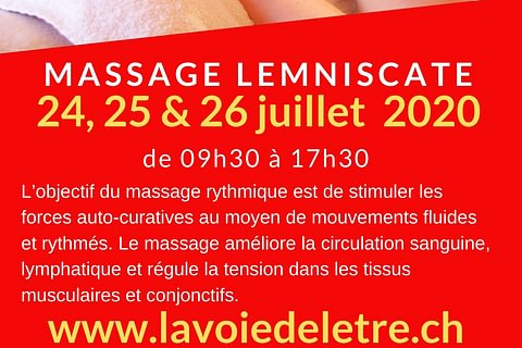 Massage Lemniscate - formation continue ASCA - 25,26 et 27 juin 2021