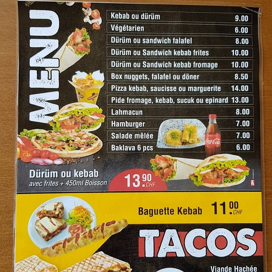 Sur demande Tacos avec pâte à Pizza fraîche