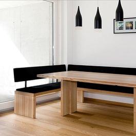 Tisch Bank Holz und Leder