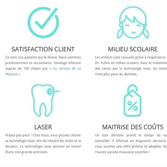Les prestations du bon dentiste