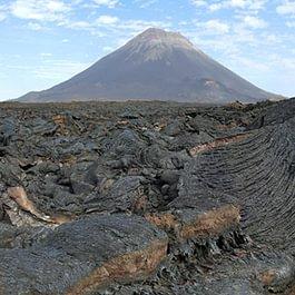 Lavafelder in der Caldeira, Fogo, Kapverden
