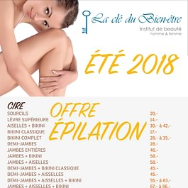 OFFRE 'Epilation  ÈTÈ a partir du 20. Août