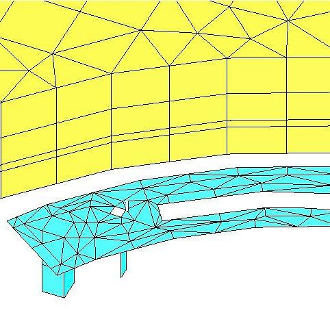 Antennenfeed im 3D EM Simulator mit Mesh