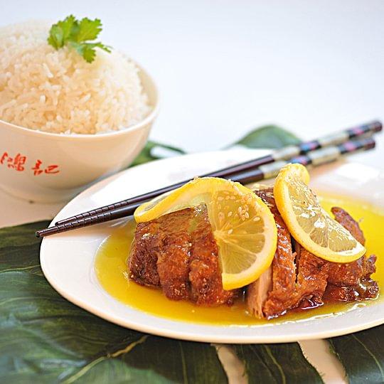 Riz canard à la sauce citron