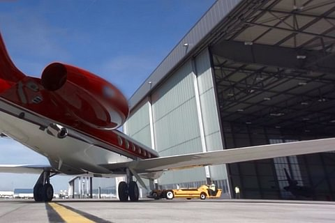 A Prenium Business Aircraft Parking Solution At Geneva International Airport