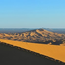 Wandern in der Wüste, Marokko