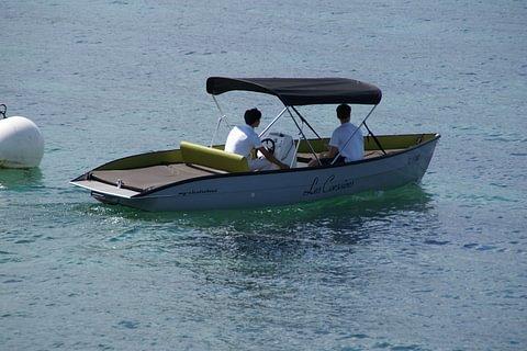 1 heure de bateau moteur électrique Miss Leidy