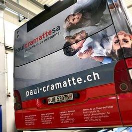 Arrière de Car Postal - Paul Cramatte SA