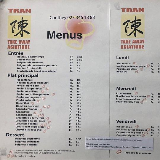 Tran Take Away Asiatique
