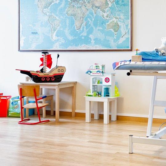 Behandlungszimmer Kinderärzte