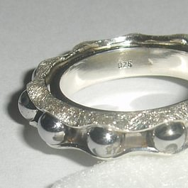 Drehring Silber mit Edelstahlkugeln