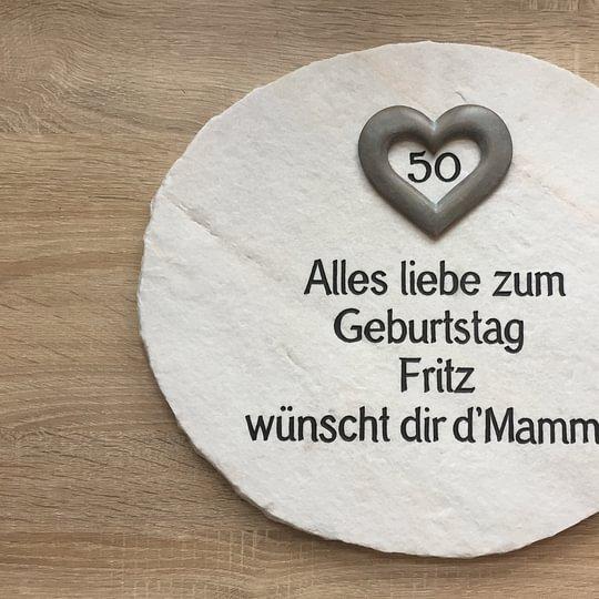 Geschenkidee Platte mit Bronze Herz aus Palissandro