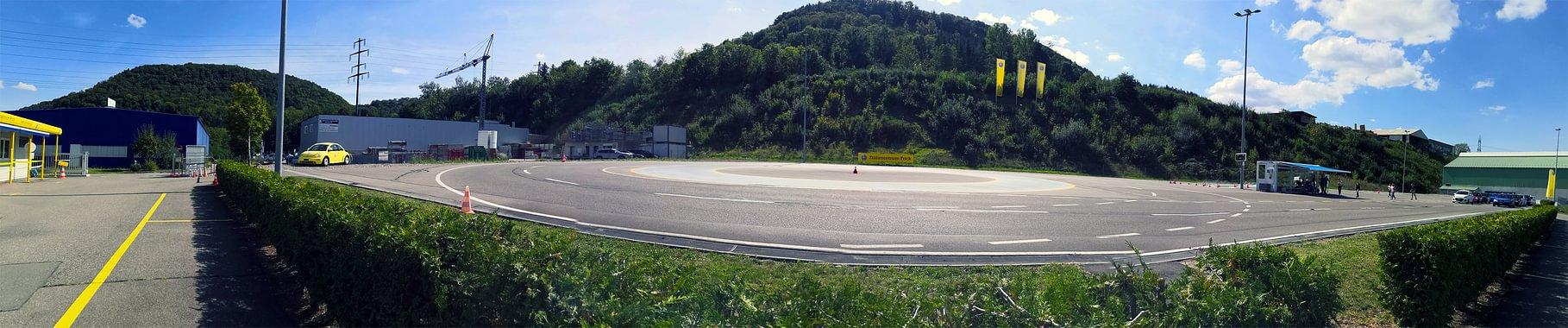 TCS Fahrzentrum Frick - Panoramabild Fahrpiste