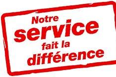 Notre service fait la différence, testez-nous!