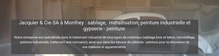 Jacquier & Cie SA sablage & métallisation
