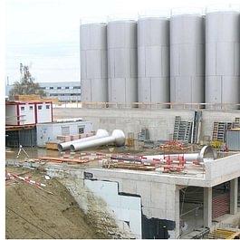 Cremo SA à Villars-sur-Glâne, bâtiment de réception du lait - année 2005 - 2006